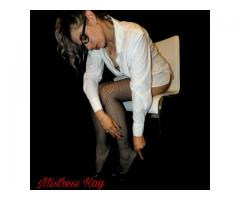 Beauty & Brains! Mistress Kay ready to treat or mistreat you..